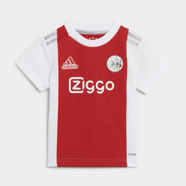 Divisa Baby Home 21/22 Ajax Amsterdam Bianco Bambini Calcio