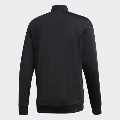 Erkek Sport Inspired Siyah Essentials 3 Bantlı Triko Fermuarlı Üst