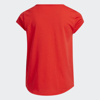 Youth Training Red Scoop Neck Tee