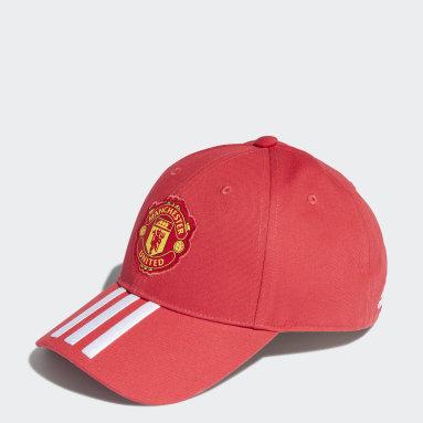Cappellino Baseball Manchester United FC Rosso Calcio