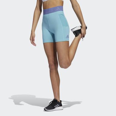 Mallas cortas Techfit Badge of Sport Verde Mujer Running