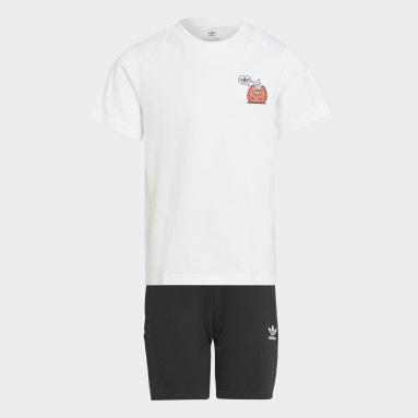 เด็ก Originals สีขาว ชุดเสื้อยืดและกางเกงขาสั้น Originals x Kevin Lyons
