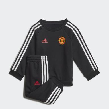 Chándal Baby Manchester United 3 bandas Negro Niño Fútbol