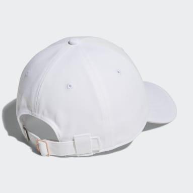 Women Golf White Badge of Sport Twill Cap
