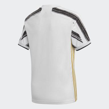 Boys Football White Juventus Home Jersey
