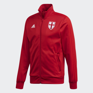 Men Gym & Training Red England Track Top