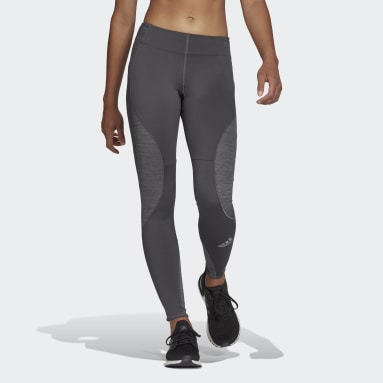 Mallas Fast Running Primeblue Gris Mujer HIIT