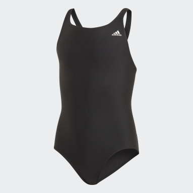 Maillot de bain Solid Fitness Noir Filles Natation