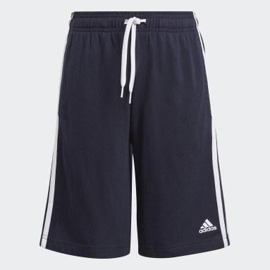 Youth 8-16 Years Sportswear Blue adidas Essentials 3-Stripes Shorts