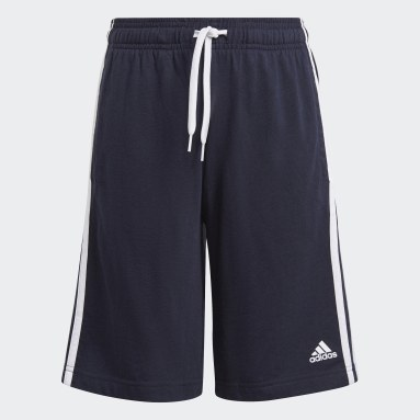 Shorts adidas Essentials 3 Franjas Azul Niño Training