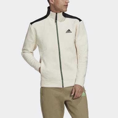 Men Sport Inspired White adidas Z.N.E. Sportswear Track Top