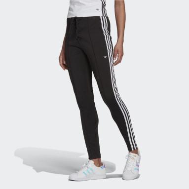 Laced High-Waisted Pants Czerń