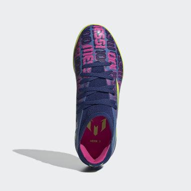 Children Soccer Blue X Speedflow Messi.3 Turf Shoes