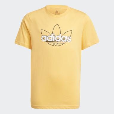 Playera adidas SPRT Collection Estampada Naranja Niño Originals