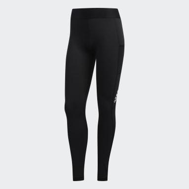 Dames Wielrennen zwart Alphaskin Lange Legging