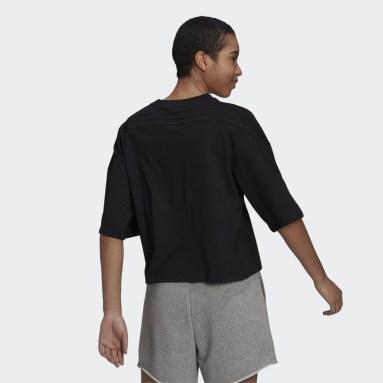 T-shirt adidas Sportswear Future Icons 3-Stripes noir Femmes Sportswear