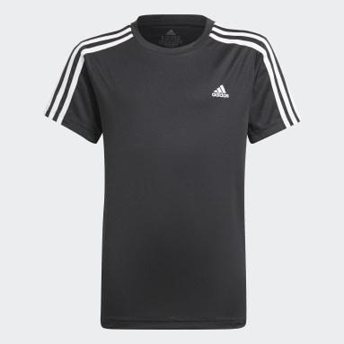 Camiseta Designed 2 Move 3 bandas Negro Niño Gimnasio Y Entrenamiento