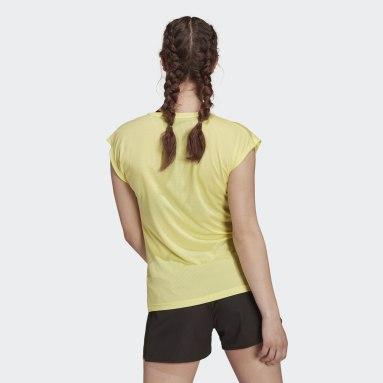 T-shirt Terrex Primeblue Trail Functional Logo Giallo Donna TERREX