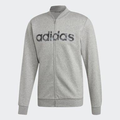Men Sportswear Grey Commercial Bomber Jacket