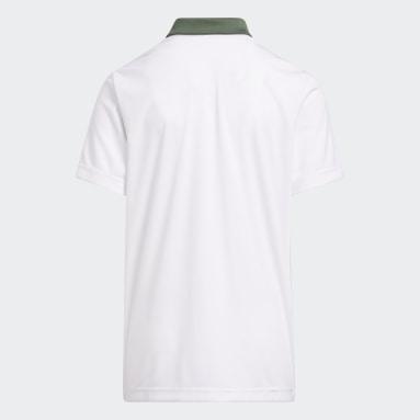 Jongens Golf Groen Printed Poloshirt