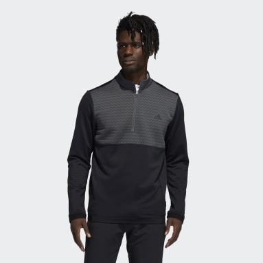 Men Golf Black Recycled Content COLD.RDY Quarter-Zip Pullover