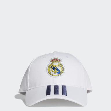 Cappellino Baseball Real Madrid Bianco Calcio