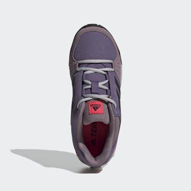 Children TERREX Purple Terrex Hyperhiker Low Hiking Shoes