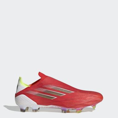 Calzado de Fútbol X Speedflow+ Terreno Firme Rojo Fútbol