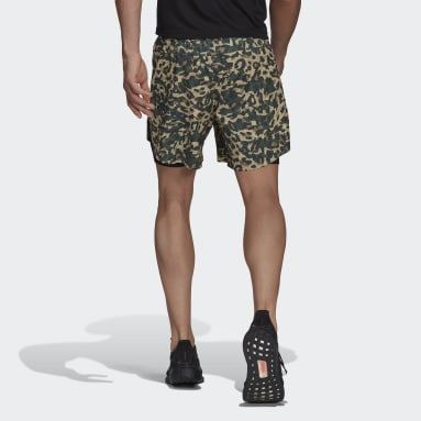 Short Fast Two-in-One Primeblue Graphic Noir Hommes Running