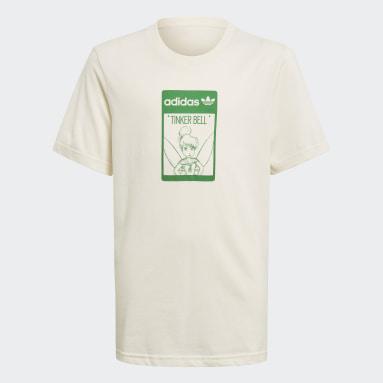 T-shirt Disney Tinkerbell Organic Cotton Bianco Bambini Originals
