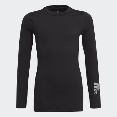T-shirt AEROREADY Long Sleeve Noir Garçons Fitness Et Training