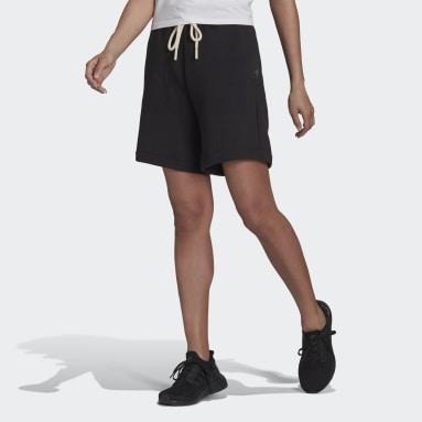 Short adidas Sportswear Studio Lounge Fleece Noir Femmes Sportswear