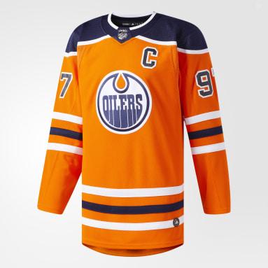 Hockey Orange Oilers McDavid Home Authentic Pro Jersey