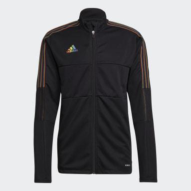 Fotbal černá Sportovní bunda Tiro Pride