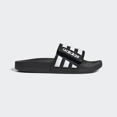 Children Essentials Black Adilette Comfort Adjustable Slides
