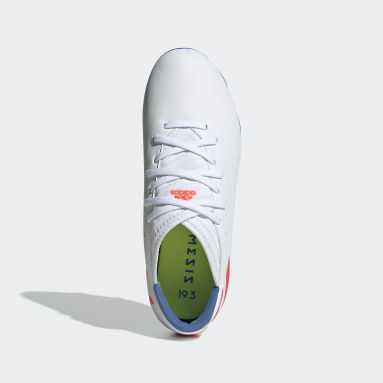 Girls Football White Nemeziz Messi 19.3 Firm Ground Boots