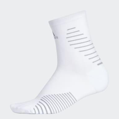 Running White Running Mid-Crew Socks