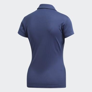 Women Tennis Blue Climachill Polo Shirt