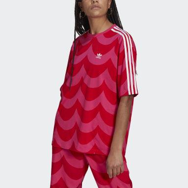 Marimekko Oversize T-skjorte Rød
