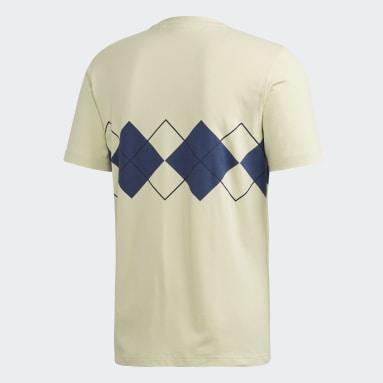 Argyle T-skjorte Gul