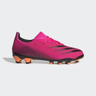 Børn Fodbold Pink X Ghosted.3 Multi Ground støvler