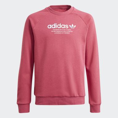 Youth Originals Pink Adicolor Crew Sweatshirt