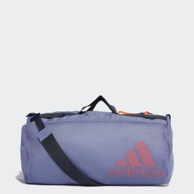 Women Training Purple Sports Mesh Duffel Bag