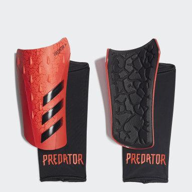 Football Orange Predator League Shin Guards