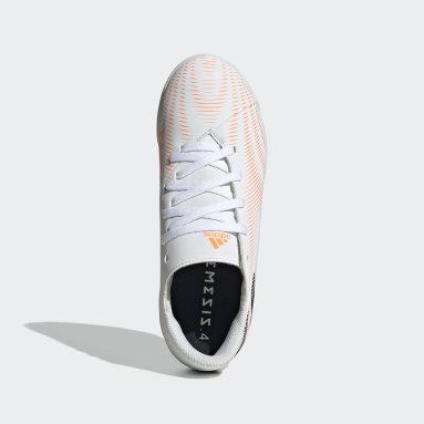 Boys Futsal White Nemeziz.4 Indoor Boots