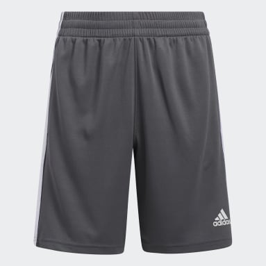 Children Training Grey Classic 3-Stripes Shorts
