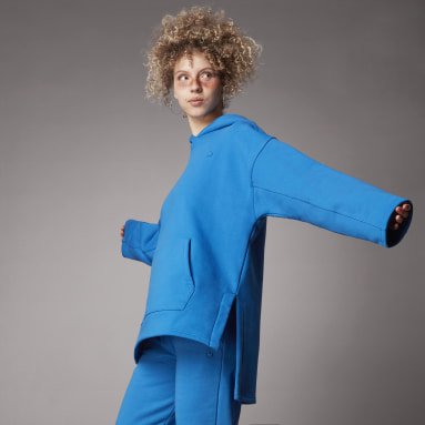 синий Флисовая худи Adicolor