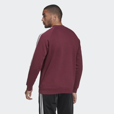 Heren Originals Bordeaux Adicolor Classics 3-Stripes Sweatshirt