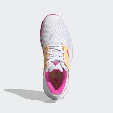 Youth 8-16 Years Tennis White CourtJam Tennis Shoes