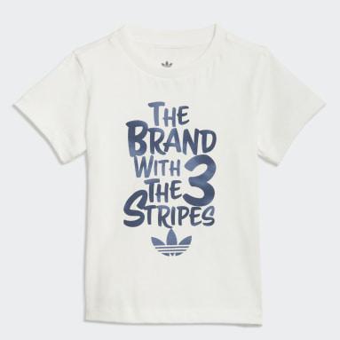 T-shirt Graphic Print Camo Blanc Garçons Originals